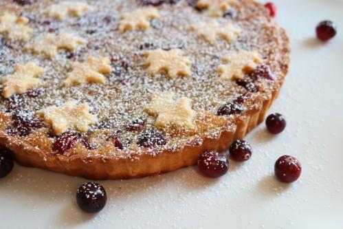 Custard Cranberry Tart