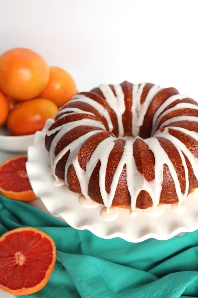 Glazed Grapefruit Bundt Cake