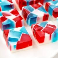 Red, White, and Blue Broken Glass Jello Shots