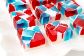 Red, White, and Blue Broken Glass Jello Shots | A Palate For Pie