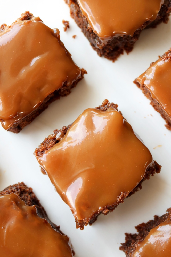 Salted Caramel Brownies | A Palate For Pie