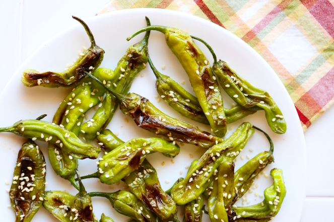 Sesame Shishito Peppers | A Palate For Pie