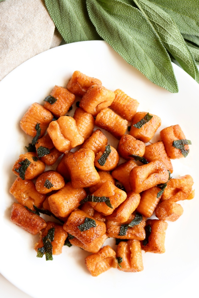 Sweet Potato Gnocchi with Brown Butter and Sage | A Palate For Pie
