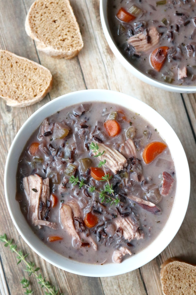 Creamy Chicken and Black Rice Soup | A Palate For Pie